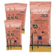 Caixa Barra Proteica Vegana Dobro Mini Chocolate Belga 6un