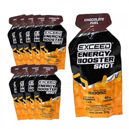 Caixa Gel Carboidrato Exceed Energy Café Chocolate Fuel 10un