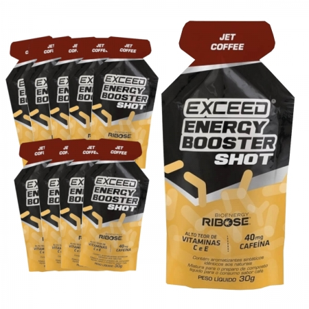 Caixa Gel Carboidrato Exceed Energy Café Jet Coffee 10un