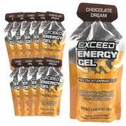 Caixa Gel Carboidrato Exceed Energy Chocolate Dream 10un