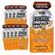 Caixa Gel Carboidrato Exceed Energy Chocolate Flor Sal 10un