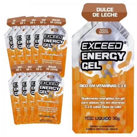 Caixa Gel Carboidrato Exceed Energy Doce de Leite 10un