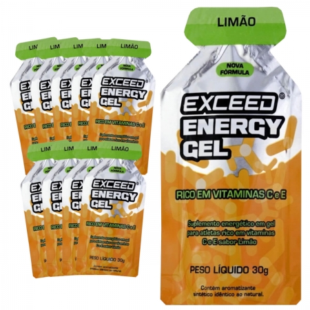 Caixa Gel Carboidrato Exceed Energy Limão 10un