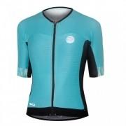 Camisa Ciclismo Feminina Mauro Ribeiro Premium Turquesa