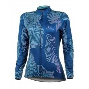Camisa Ciclismo Feminino Manga Longa MR Fleece Turquesa