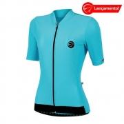 Camisa Ciclismo Mauro Ribeiro Feminina Fiber Azul Celeste