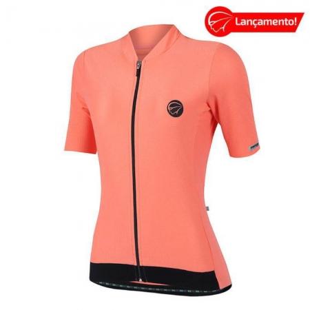 Camisa Ciclismo Mauro Ribeiro Feminina Fiber Coral