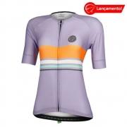Camisa Ciclismo Mauro Ribeiro Feminina Line Roxa