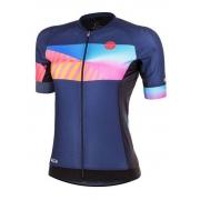 Camisa ciclismo Mauro Ribeiro Feminina Paint Azul