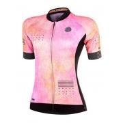 Camisa Ciclismo Mauro Ribeiro Feminina Real Rosa