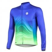 Camisa Ciclismo Mauro Ribeiro Manga Longa Streak Azul