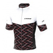Camisa Ciclismo Unisex Oggi Agile Elite Branco Vermelho Pto