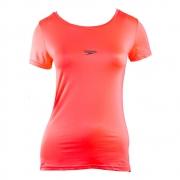 Camiseta Básica Stretch Feminina Rosa Neon