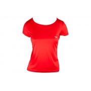 Camiseta Corrida Speedo Interlock Feminina UV50 Coral