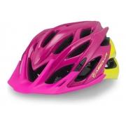 Capacete Ciclismo Absolute Wild Com Led Rosa e Amarelo