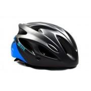 Capacete Ciclismo Bike Mtb Kave Revo Com Led + Aba Azul