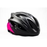 Capacete Ciclismo Bike Mtb Kave Revo Com Led + Aba Rosa