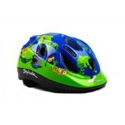 Capacete Ciclismo Infantil Selva Macaquinhos Verde e Azul 52