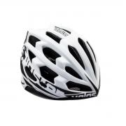Capacete Ciclismo Polisport Veloster Branco e Preto