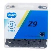 "Corrente KMC Z9 11/2""x11/128"" Cinza Com 9 Velocidades"