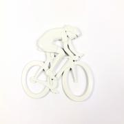 Emblema Ictus Ciclista Na Cor Branca