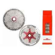 Kit Cassete e Corrente MTB SunRace MX8 11x46 11v 126 elos