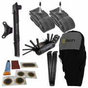 Kit De Reparo Para Bicicleta + Par De Câmara De Ar Aro 29