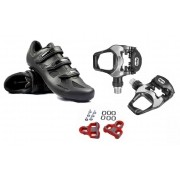 Kit Pedal Wellgo R251 +  Sapatilha Speed Absolute Nero Nº 45