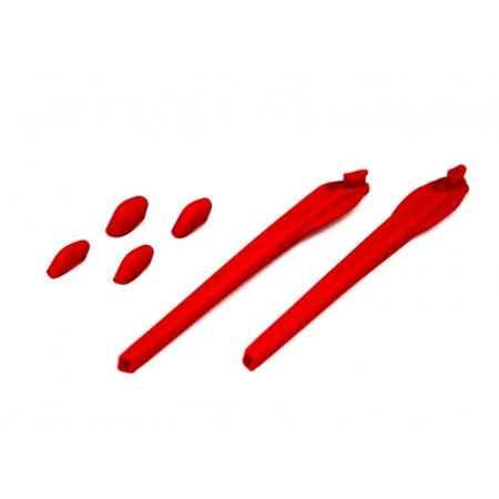 Kit Reposição Hastes Oakley Flak 2.0 Vermelho 2 Narigueiras