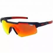 Óculos Ciclismo HB Shield Mountain Navy Red Estojo 3 Lente