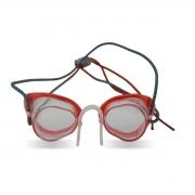 Óculos De Natação Speedo Speed Vermelho Lente Cristal