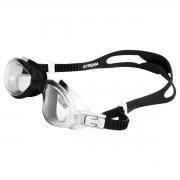 Óculos de Natação Speedo Stream Cinza Preto Lente Cristal