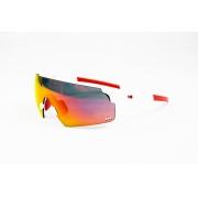 Óculos HB Quad R Branco Pérola Red Lente Espelhada Vermelha