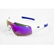 Óculos Hb Shield Evo Mountain Branco Azul Lente Multi Purple