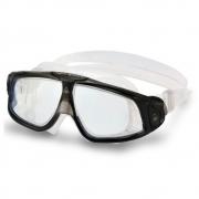 Óculos Natação Aqua Sphere Seal 2.0 Preto Cinza Transparente