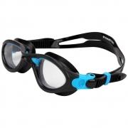 Óculos Natação Speedo Phanton Pt e Azul Lente Transparente