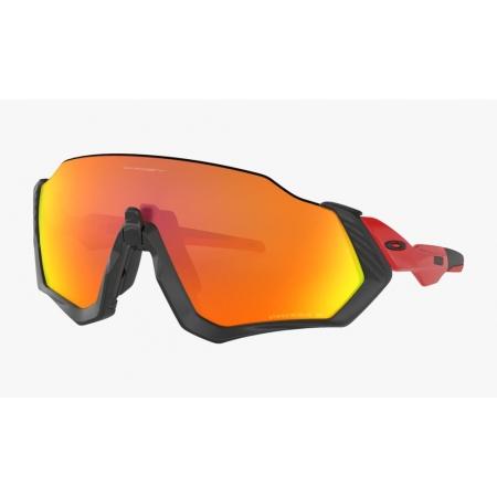Óculos Oakley Flight Jacket Matte Black Red Prizm Ruby Polar