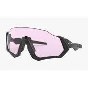 Óculos Oakley Flight Jacket Polished Black Prizm Low Light
