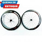 Par de Roda Profile Design Full Carbono 80/52 606 Clincher