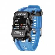 Relógio GPS Lezyne Micro C Ciclocomputador Pulseira Azul