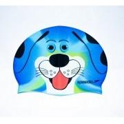 Touca de Natação Infantil Speedo Dog Azul