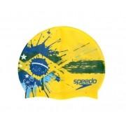 Touca de Natação Speedo Eu Amo o Brasil Amarela