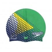 Touca de Natação Speedo Eu Amo o Brasil Verde