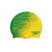 Touca de Natação Speedo Flag Brasil Amarela