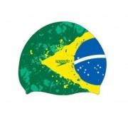 Touca de Natação Speedo Flag Brasil Verde