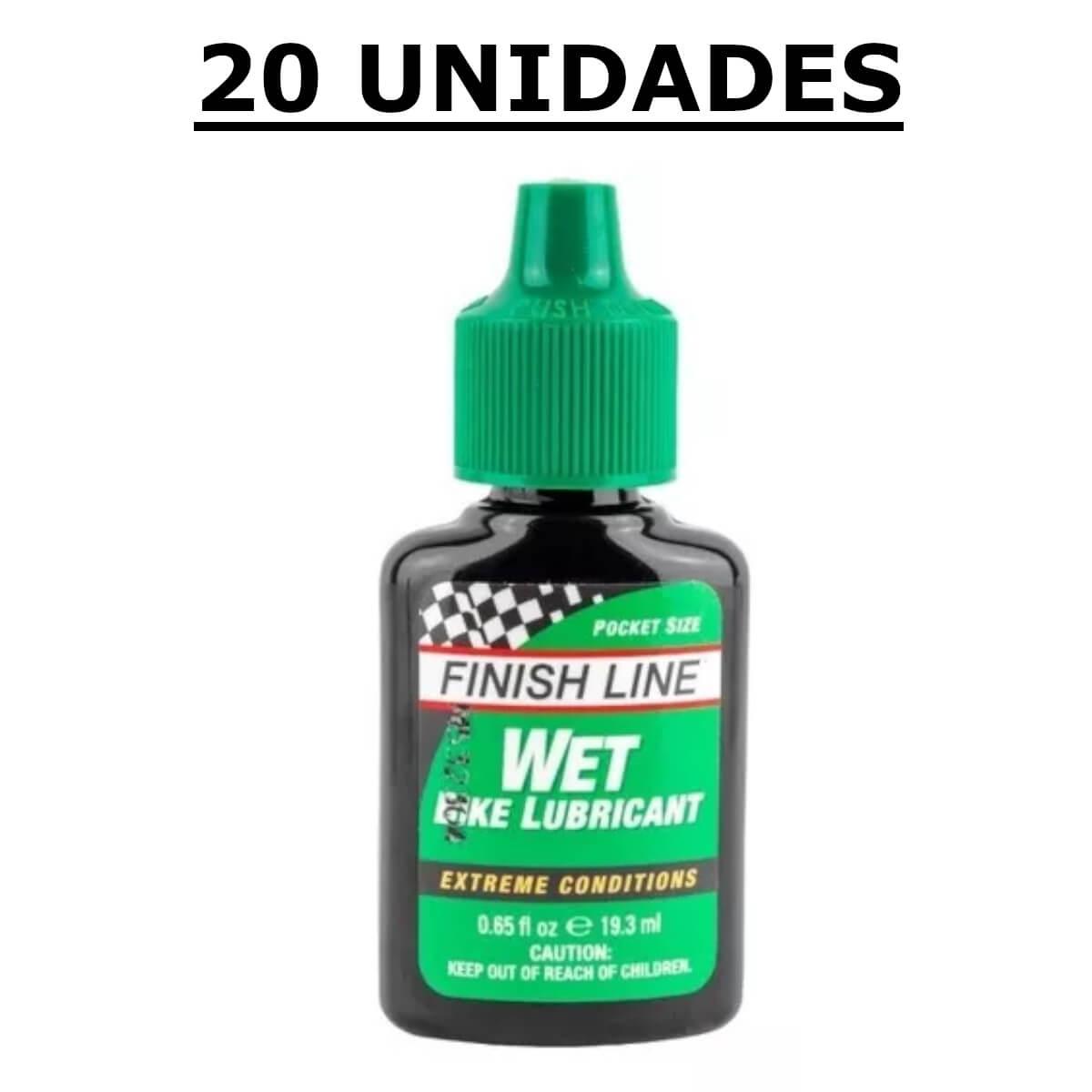20un Óleo Lubrificante de Bike Finish Line Úmido 19,3 ml