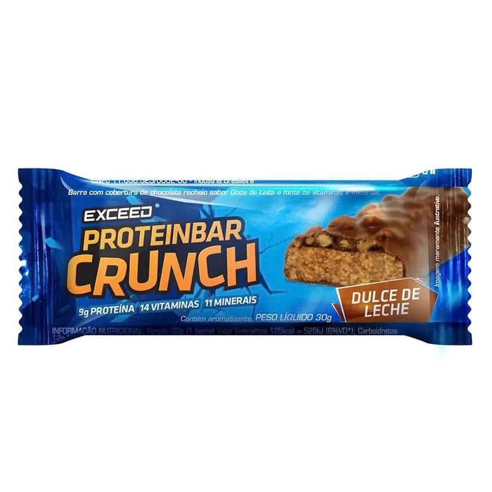 Barra de Proteína Exceed Proteinbar Crunch Doce de Leite 30g