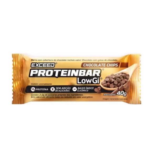 Barra de Proteína Exceed Proteinbar Low Gi Choco Chips 40G