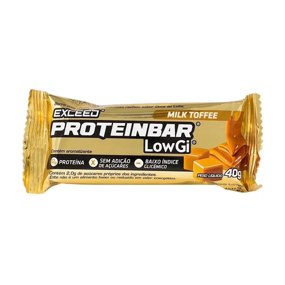 Barra de Proteína Exceed Proteinbar Low Gi Milk Toffee 40g