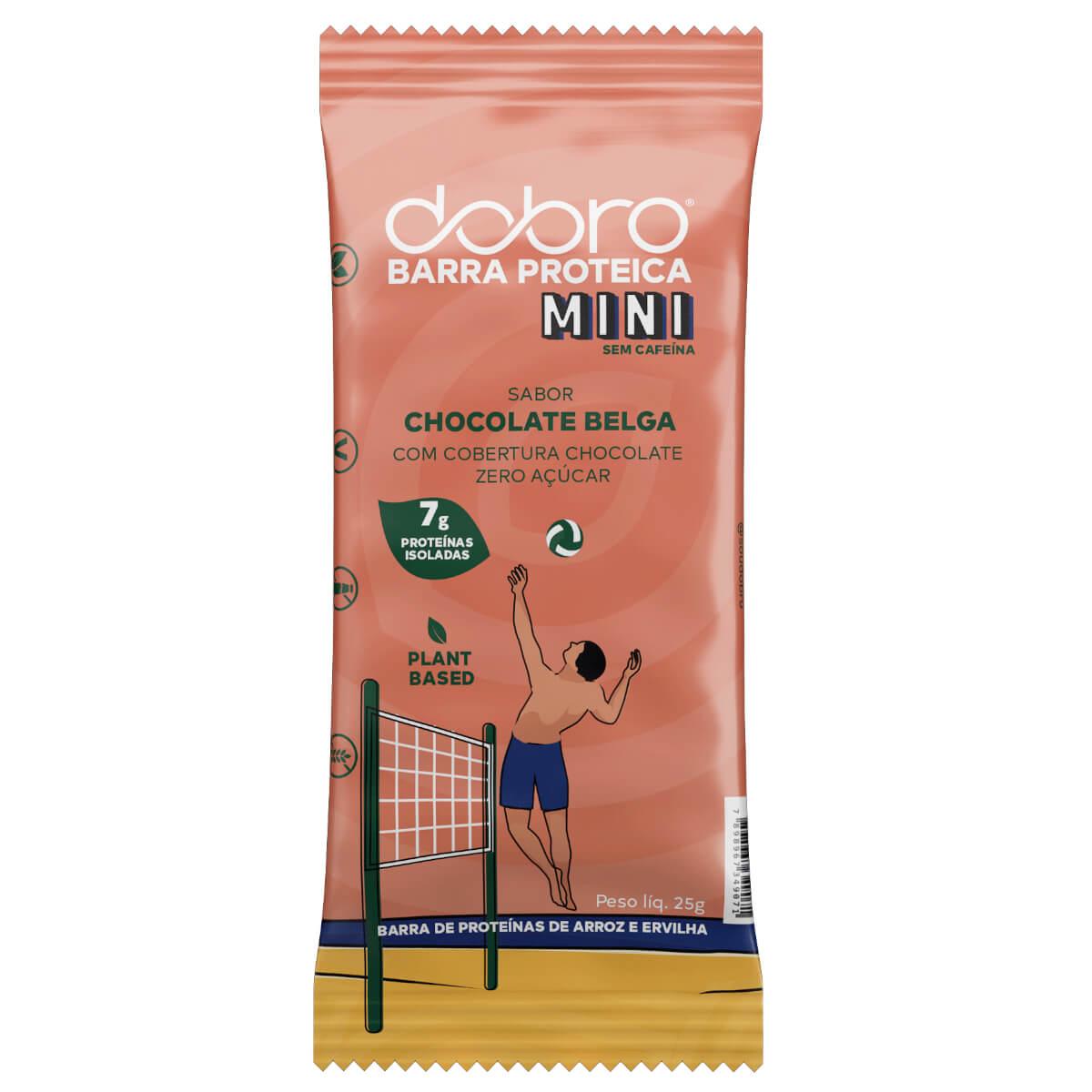 Barra Proteica Vegana Dobro Mini Chocolate Belga 25g